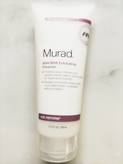 Step one of the best skin care routine for sensitive skin - Murad Exfoliator